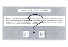 YES NO MAYBE Italian ballot paper. YES NO MAYBE ballot paper for Italian Referendum, 4 December 2016ntranslation: Referendum - Do you approve the constitutional Stock Photos