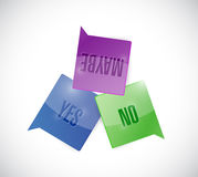 Yes, no and maybe message bubbles illustration Stock Photos
