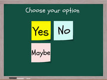 Yes No Maybe Options Stock Photos