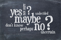 Free Yes, No, Maybe Word Cloud Stock Photos - 62685833