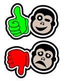 Yes no monkey Stock Photos