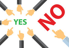 Yes or no , peer pressure concept - think different concept Royalty Free Stock Photos