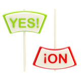 Yes and No plates isolated. On white stock illustration