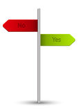 Yes or No pointer Royalty Free Stock Images
