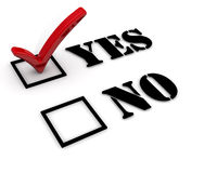 Yes or no. Positive selection Royalty Free Stock Images