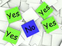 Yes No Post-It Notes Show Affirmative Or. Yes No Post-It Notes Showing Affirmative Or Negative Stock Photos