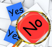Yes No Post-It Papers Show Accept Or Decline. Yes No Post-It Papers Showing Accept Or Decline Stock Image