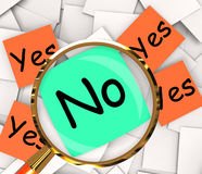 Yes No Post-It Papers Show Affirmative Or Negative Stock Image
