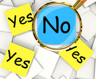 Yes No Post-It Papers Show Agree Or Disagree Stock Image