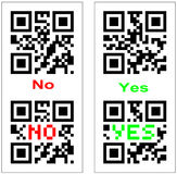Yes and No QR barcode Royalty Free Stock Images