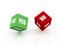 Yes or No. Questionnaire Stock Photos
