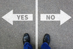 Yes no right wrong answer business concept solution decision dec. Ide choice Royalty Free Stock Image