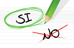 Yes and no selection in Spanish Stock Photos