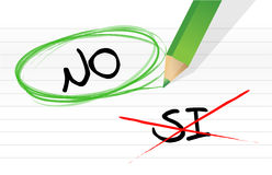 Yes and no selection in Spanish Stock Images