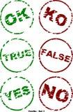 Yes-No - Set 1. Set of validation icons - Grunge Style Stock Photography
