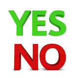 Yes and no sign stock photos