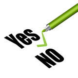 Yes and no sign Royalty Free Stock Image