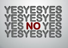 YES NO sign Royalty Free Stock Images