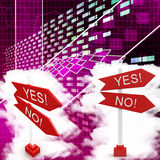 Yes Or No Sign Board Illustration Stock Images