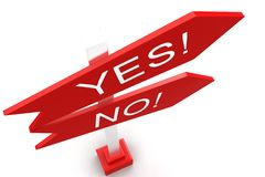 Yes Or No Sign Boards Royalty Free Stock Images