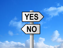 Yes No Sign Royalty Free Stock Photography