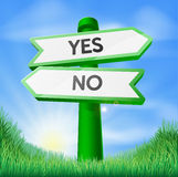 Yes or no sign concept Stock Photography