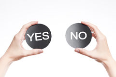 Yes or no sign Royalty Free Stock Photos