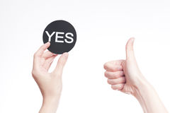 Yes or no sign Stock Photos