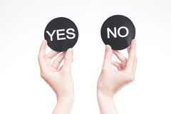 Yes or no sign Royalty Free Stock Photo
