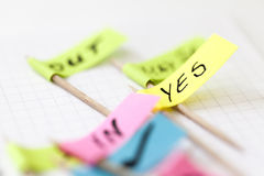 Yes no sign Stock Images