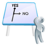 Yes or No sign Stock Photography