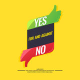 Yes and no sign of product quality. Yes and no sign of product quality and choice. Thumbs Up and Down Poster. Vector illustration Royalty Free Stock Photos