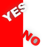 Yes and No Sign Stock Photo