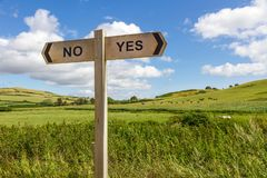 Yes or No Sign stock image