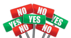 Yes and no signs illustration Stock Image