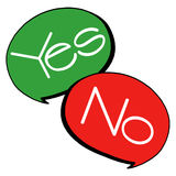 Yes, no speech bubbles Royalty Free Stock Photo