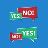 Yes No Speech Bubbles Stock Photo