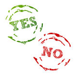 Yes and No Stamps Stock Photos