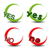 Yes no symbol - positive negative icon Royalty Free Stock Images