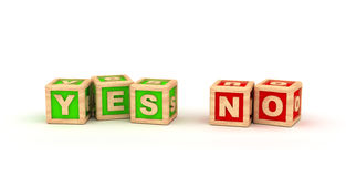 Yes No Text Cube. On white background Stock Images