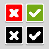 Yes, No, Thumbs up and down icons, vector illustration Stock Images