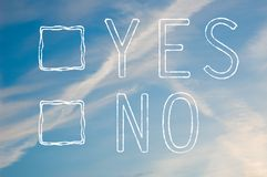 Yes or no tick box Royalty Free Stock Images