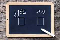 Yes or No - to mark on a board Royalty Free Stock Images