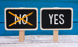 Yes or no Royalty Free Stock Photo