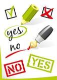 Yes_No_Vector Stock Photo