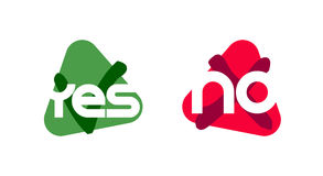 Yes or No. Vector icons Stock Photography