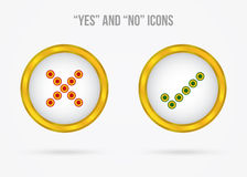 Yes and no vector icons Royalty Free Stock Images