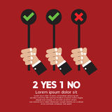 Yes And No. Vector Illustration royalty free illustration