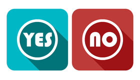 Yes No Vote Vector Banner. Voting Button Vector Icon Set Illustration Stock Royalty Free Stock Photography