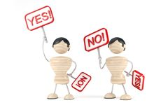 Yes, no, voting royalty free stock photo